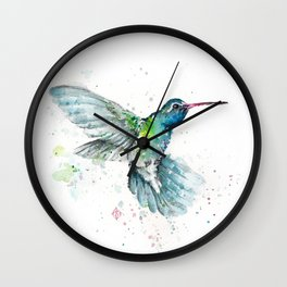 Hummingbird Flurry Wall Clock