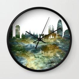 Barcelona City Skyline Spain Wall Clock