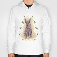 hare Hoodies featuring Hare by Monkah