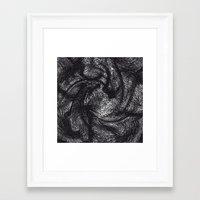 furry Framed Art Prints featuring furry swirl by Matthias Hennig