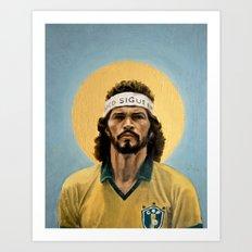 Sóocrates (1986) - Football Icon Art Print