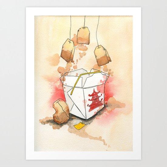 Tea Bags and Take out Art Print