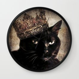 Black Cat - Queen Cora Wall Clock