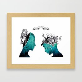 My brain at day and night  Framed Art Print