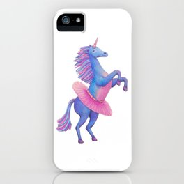Unicorn Ballerina iPhone Case