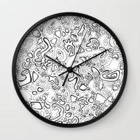 acid Wall Clocks featuring Acid by Danielle Quackenbush