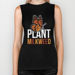 Milkweed design Gift for Monarch Butterfly Nature Lovers  Biker Tank