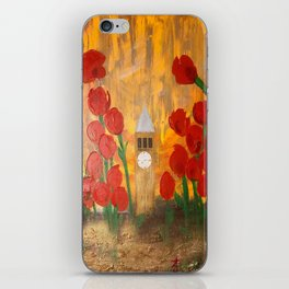 150 Years of CU - An Alumni Anniversary Tribute with Red Tulip Flowers iPhone Skin