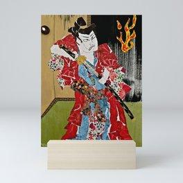 The Green Eyed Samurai Mini Art Print