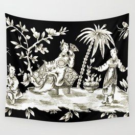 Black & White Chinoiserie Wall Tapestry