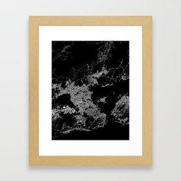 Rio map Brazil Framed Art Print