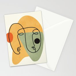 Abstract Faces 19 Stationery Cards