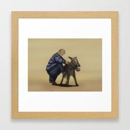 A means of transportation. Framed Art Print