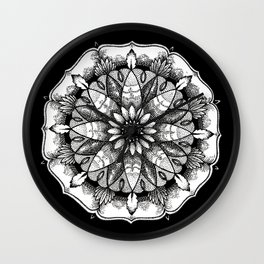 FlowerMandala Wall Clock