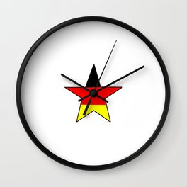 Flag of Germany 4 Wall Clock
