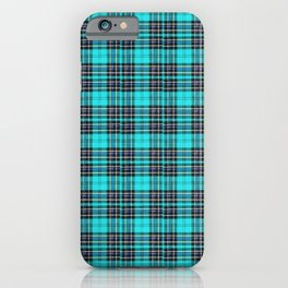 Lunchbox Blue Plaid iPhone Case