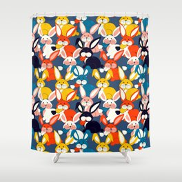 Rabbit colored pattern no2 Shower Curtain