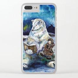 Polar tales // bear Clear iPhone Case
