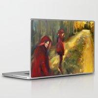 agnes cecile Laptop & iPad Skins featuring Agnes - Autumn by Dawn Dudek