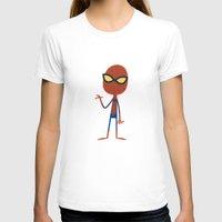spider man T-shirts featuring Spider Man by Ariel Fajtlowicz