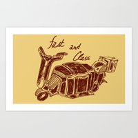 Fast And Class Art Print