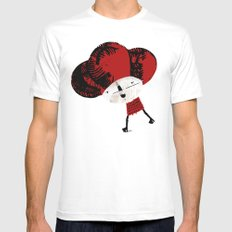 Monday morning Mens Fitted Tee MEDIUM White