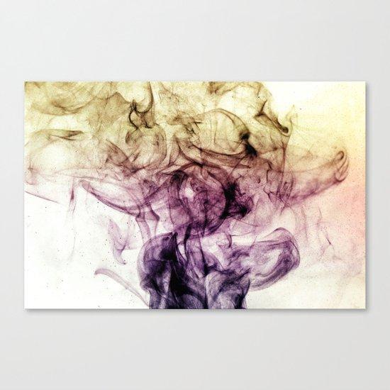 Beautiful Purple Brown Smoky Dust Canvas Print
