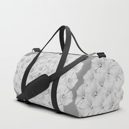 Flowerpower - Flower Balls On A Grey Background - #society6 Duffle Bag