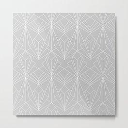 Art Deco on Grey Metal Print