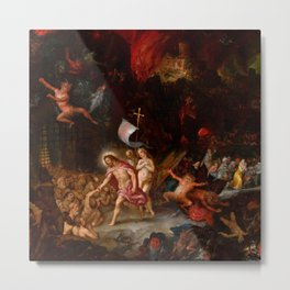 "Jan Brueghel The Elder & Hans Rottenhammer ""Christ's Descent into Limbo"" 1593 Metal Print"