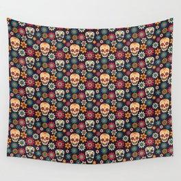 Day Of The Dead Pattern | Dia De Los Muertos Skull Wall Tapestry