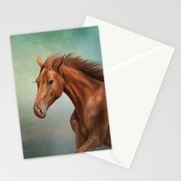 Drawing portrait  horse Stationery Cards