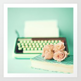 Typing With Love Art Print