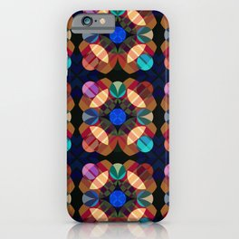 Achlis - Colorful Abstract Blossom Pattern iPhone Case
