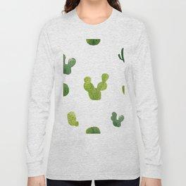 ABSTRACT WATERCOLOR CACTUS PATTERN Long Sleeve T-shirt
