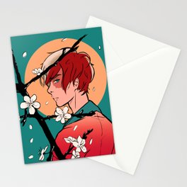 Todoroki and Cherry Blossoms Stationery Cards