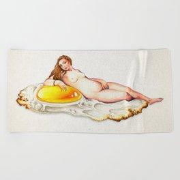 Egg is life Beach Towel