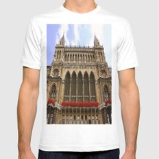 Building in Vienna White MEDIUM Mens Fitted Tee