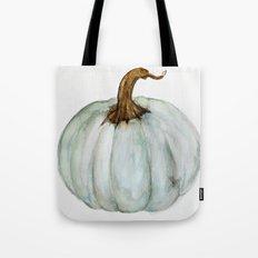 Blue-Gray Cinderella Pumpkin - Watercolor  Tote Bag