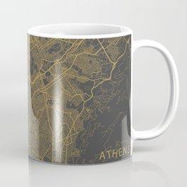 Athens Map ocher Coffee Mug