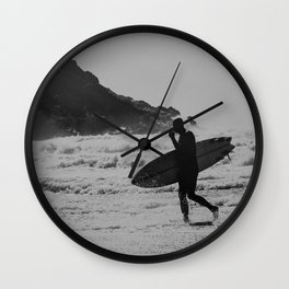 Silhouette Surfer Wall Clock
