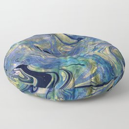 Marble Paint Swirl Trendy Abstract Glitter Rose Gold Pink Teal Turquoise Ultra Violet Floor Pillow