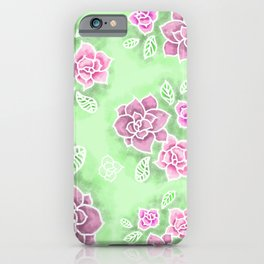 Design 151 Purple Flowers iPhone Case