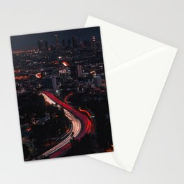 Los Angeles Night Stationery Cards