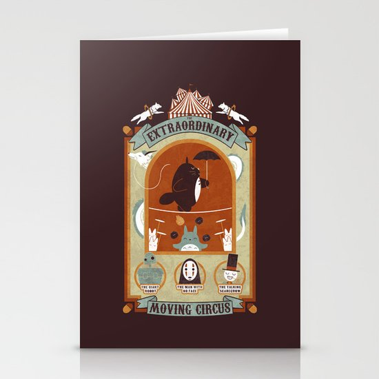 The Moving Circus Stationery Cards