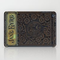 jane eyre iPad Cases featuring Jane Eyre by Charlotte Bronte, Vintage Book Cover by ForgottenCotton