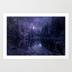 A Cold Winter's Night Art Print
