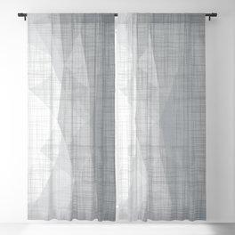 In The Flow - Geometric Minimalist Grey Blackout Curtain