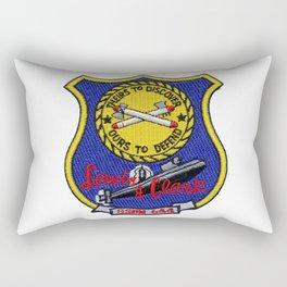 USS LEWIS AND CLARK (SSBN-644) PATCH Rectangular Pillow