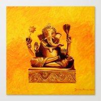 ganesha Canvas Prints featuring Ganesha by Ninamelusina